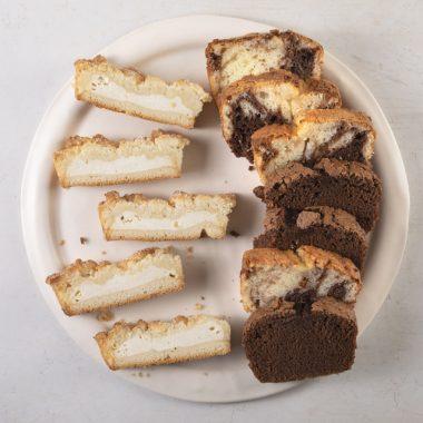 מגש עוגות שמרים בחושות חתוכות